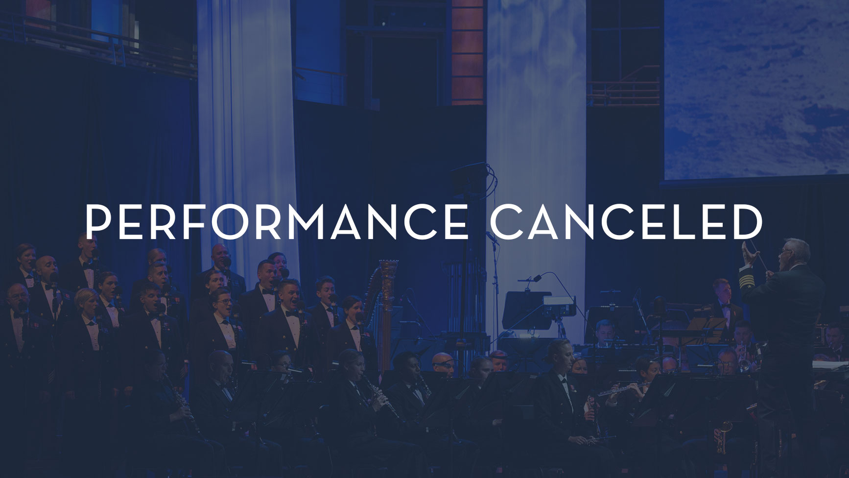 Navy Band Performance Canceled
